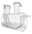 Oil and gas equipment industrial tank eps10