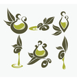 olive oil symbols vector image vector image