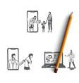 online medicine - people ordering medicine vector image vector image