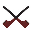 pair of smoking pipes icon vector image