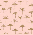 palm trees gold on pink retro style seamless vector image vector image