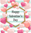pink and red balloon hearts vector image vector image