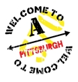 Pittsburgh stamp rubber grunge vector image vector image