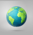 polygon west earth hemisphere on light vector image vector image