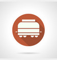 refrigerated rail car round icon vector image vector image