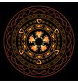 romantic round ornament for design vector image