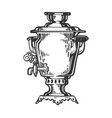 samovar engraving style vector image vector image