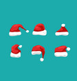 santa hat christmas flat isolated vector image