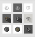 scales of justice icon set vector image