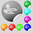 scissors icon sign Set of eight multi colored vector image vector image