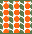 seamless pattern with tangerines on white vector image vector image