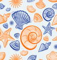 Seashell summer seamless pattern vector image vector image