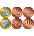Set greek money vector image