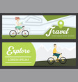 set of banners with young people vector image vector image