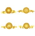 Set of golden design elements vector image