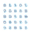 set school icons vector image