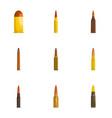 shell icons set cartoon style vector image