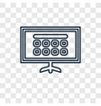 smart tv concept linear icon isolated on vector image
