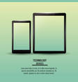 smartphone and tablet technologies infographic vector image