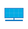 solar panel icon solar energy symbol green energy vector image