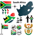 South africa map with regions vector | Price: 1 Credit (USD $1)