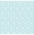 stripe cube pattern background blue green vector image