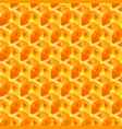 sweet honeycomb 3d tiles pattern seamless vector image