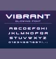 vibrant color glowing font future futuristic vector image vector image