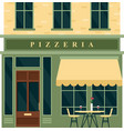 vintage pizzeria cafe restaurant house building vector image