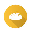 white round bread flat design long shadow glyph vector image vector image