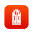 white window frame icon digital red vector image vector image