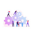 working routine process and teamwork concept male vector image