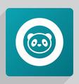 flat panda icon vector image
