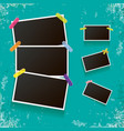 set of vintage photo frame with shadow isolated on vector image