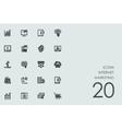 Set of Internet marketing icons vector image