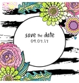 Save the date floral colorful card vector image