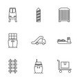 9 freight icons vector image vector image