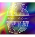 Abstract colorful background with pattern vector image vector image