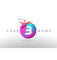 b dots letter logo with bubbles a letter design vector image vector image