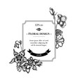 badge design with black and white impatiens vector image vector image