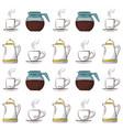 beverage pattern background image vector image