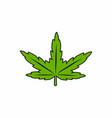 cannabis sativa weed leaf cartoon vector image vector image