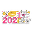 changing year from 2020 to 2021 vector image