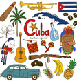 collection cuban icons vector image vector image