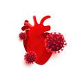 coronavirus dangerous cells infect heart vector image vector image