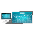 creative of business data vector image vector image
