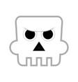 cute halloween ghost cartoon character vector image