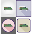 delivery flat icons 07 vector image vector image