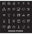 design studio editable line icons set on vector image vector image