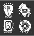 different music emblems vector image vector image